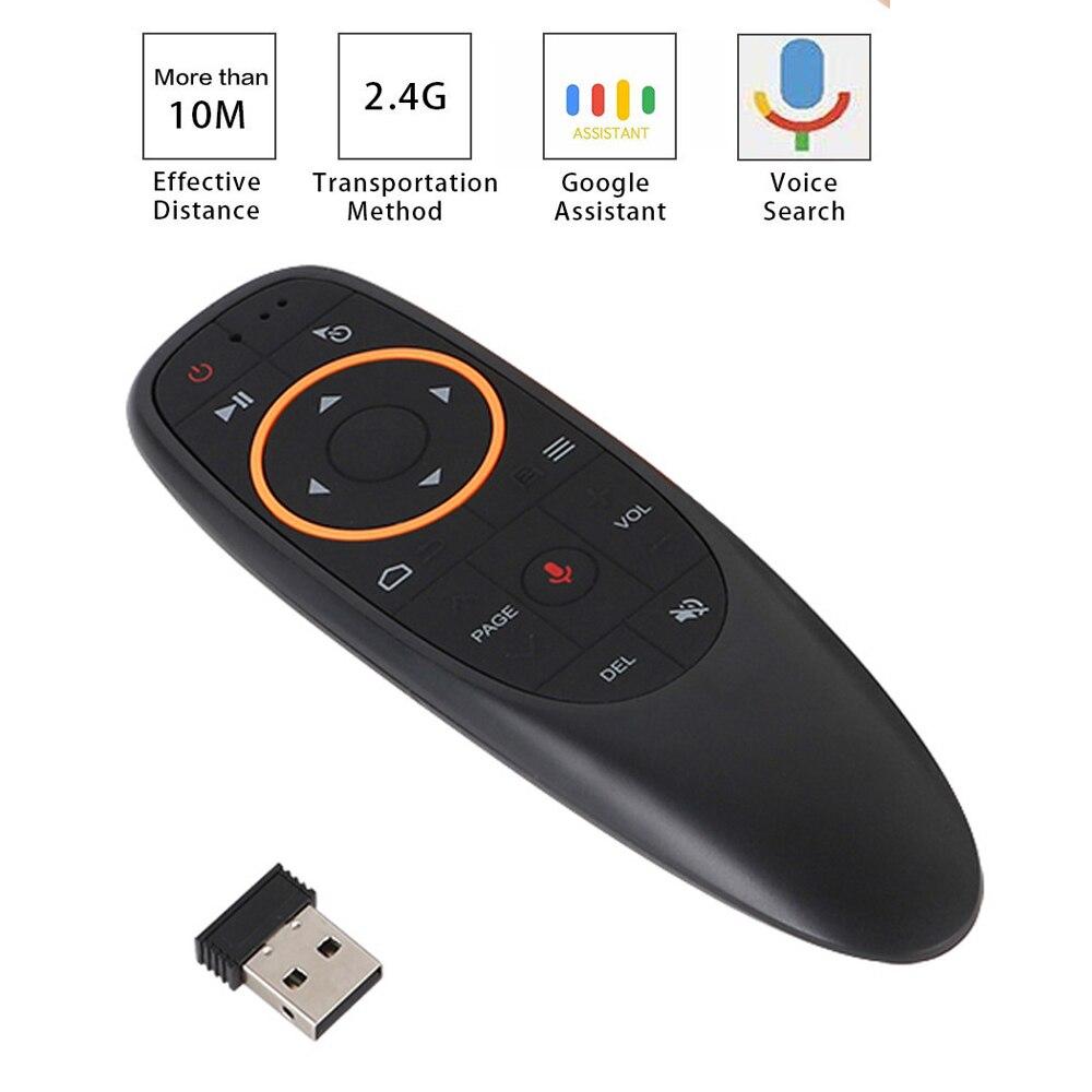 2,4G беспроводной умный пульт дистанционного управления голосовым управлением и гироскопом ler G10 Air Mouse