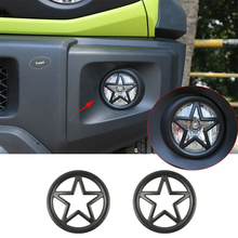 цена на Exterior Front Fog Light Lamp Cover Trim Car Accessories Car Trim Auto Parts For Suzuki Jimny 2019-2020 Black Front Grille Grill