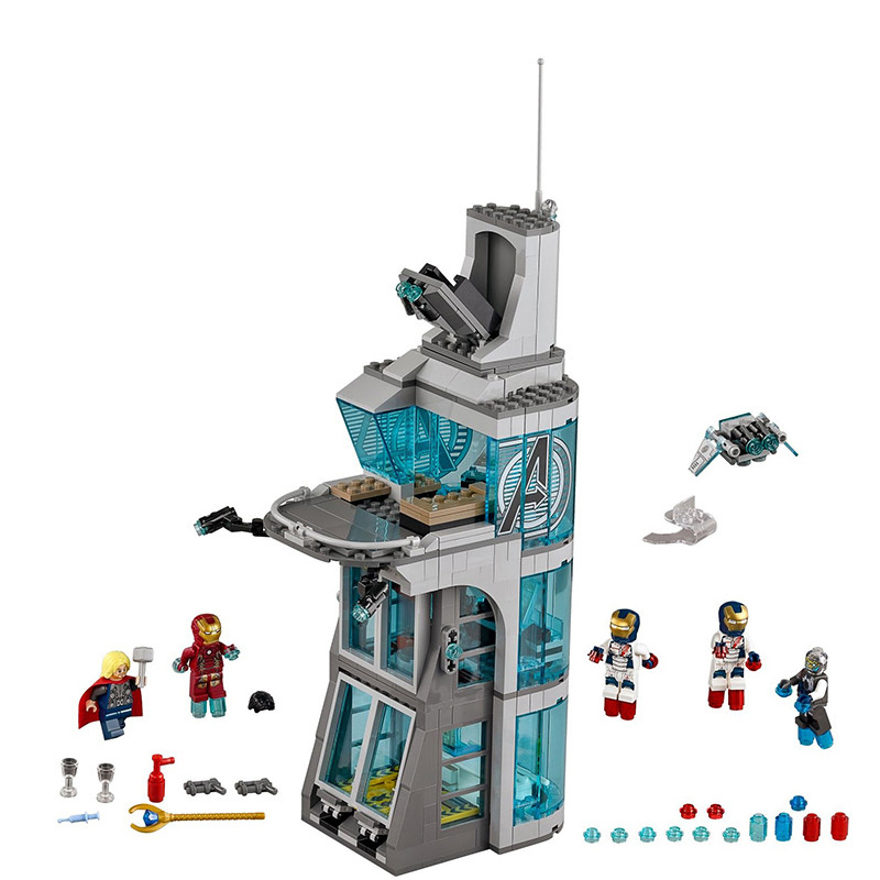 Image 4 - Upgraded Version SuperHeroes Ironman Compatible Legoinglys Marvel Avenger Tower Fit  Avengers Gift Building Block Bricks Toys-in Blocks from Toys & Hobbies