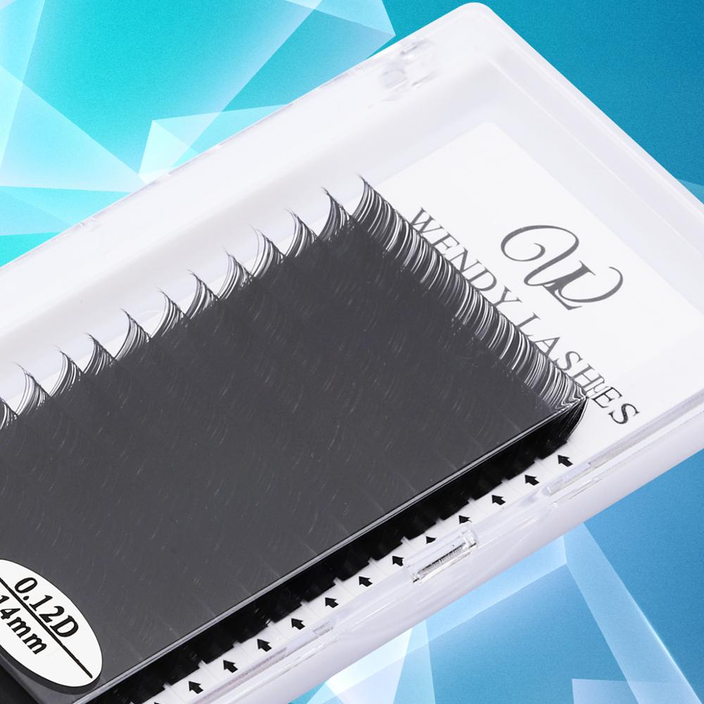 C D 7mm -16mm16/rows Lashes Extension Mink Natural Eyelashes Individual Dense Soft Professionals Cilios Lashes