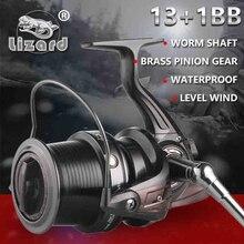 цена на Lizard 10000 size full metal Jigging trolling long shot casting for carp salt water surf spinning big sea fishing reel