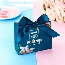 Upscale European Candy Bag With You Forever Wedding Favors Gift Box for Guests Souvenirs Package Thank you 50pcs