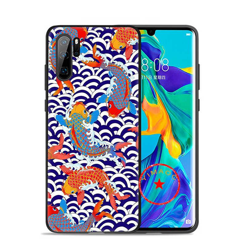湖鯉魚ソフトシリコンケース Huawei 社の名誉 10 9 × 9 8 8X Lite 7X 7C 7A 6A 名誉注 10