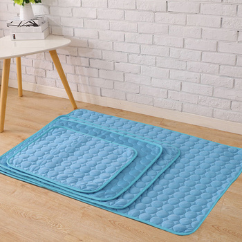 Summer Dog Cooling Mat Sky Blue Ice Pad Cool Pet Beds Sofa Cushion 2