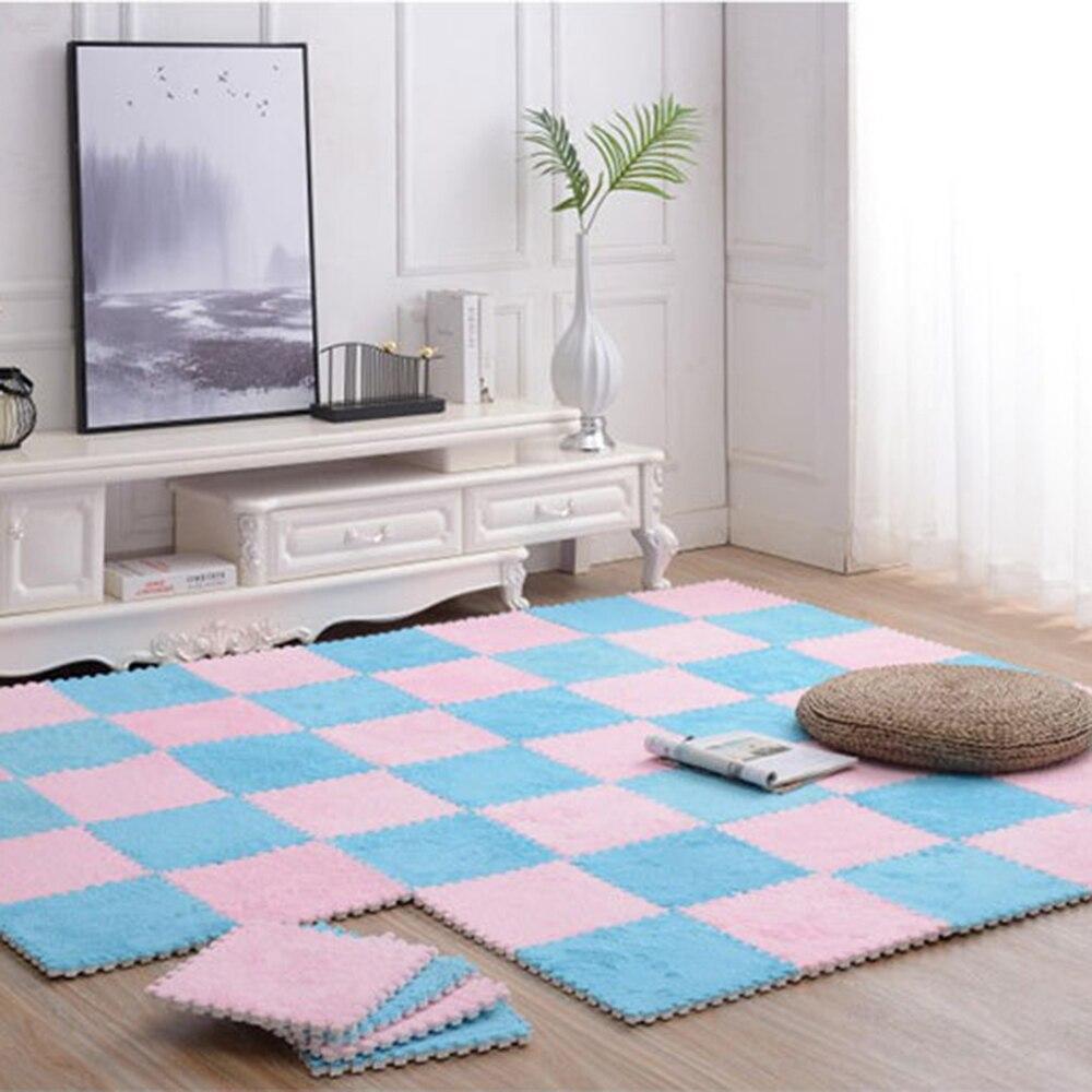 Splicing tapete de espuma tapetes de pelúcia tapete macio rachado banheiro antiderrapante tapete do quarto das crianças quebra-cabeça rastejando esteira