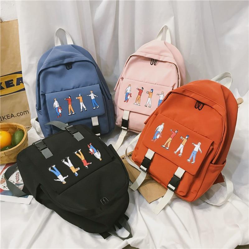 Women Cute Backpack Preppy Style 2020 Summer New Female Casual Students School Shoulder Bags Girls Cartoon Sweet Backpacks