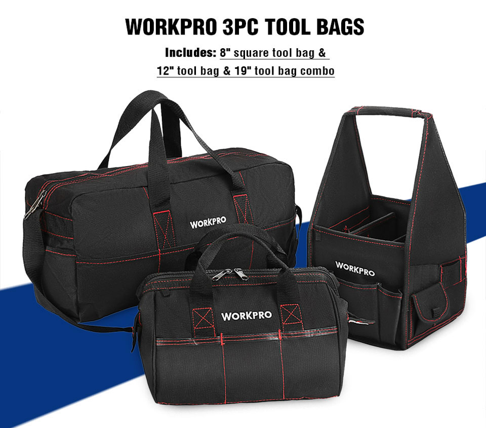 WORKPRO 3pc Tool Bags