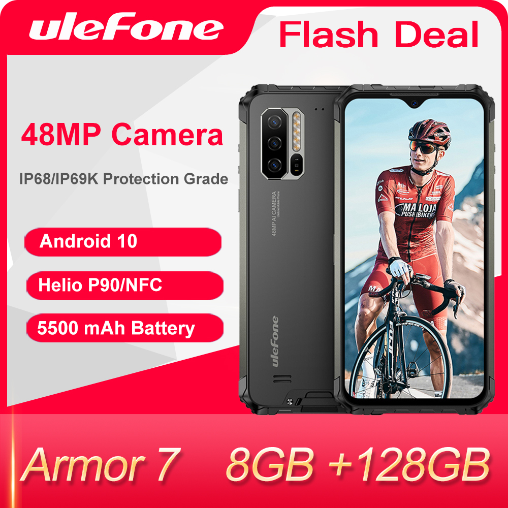 Ulefone Power 7 андроид 10 прочный телефон Водонепроницаемый смартфон NFC Helio P90 5G WI-FI 6,3 ''8 ГБ + 128 ГБ 48MP 5500 мА/ч, мобильный телефон