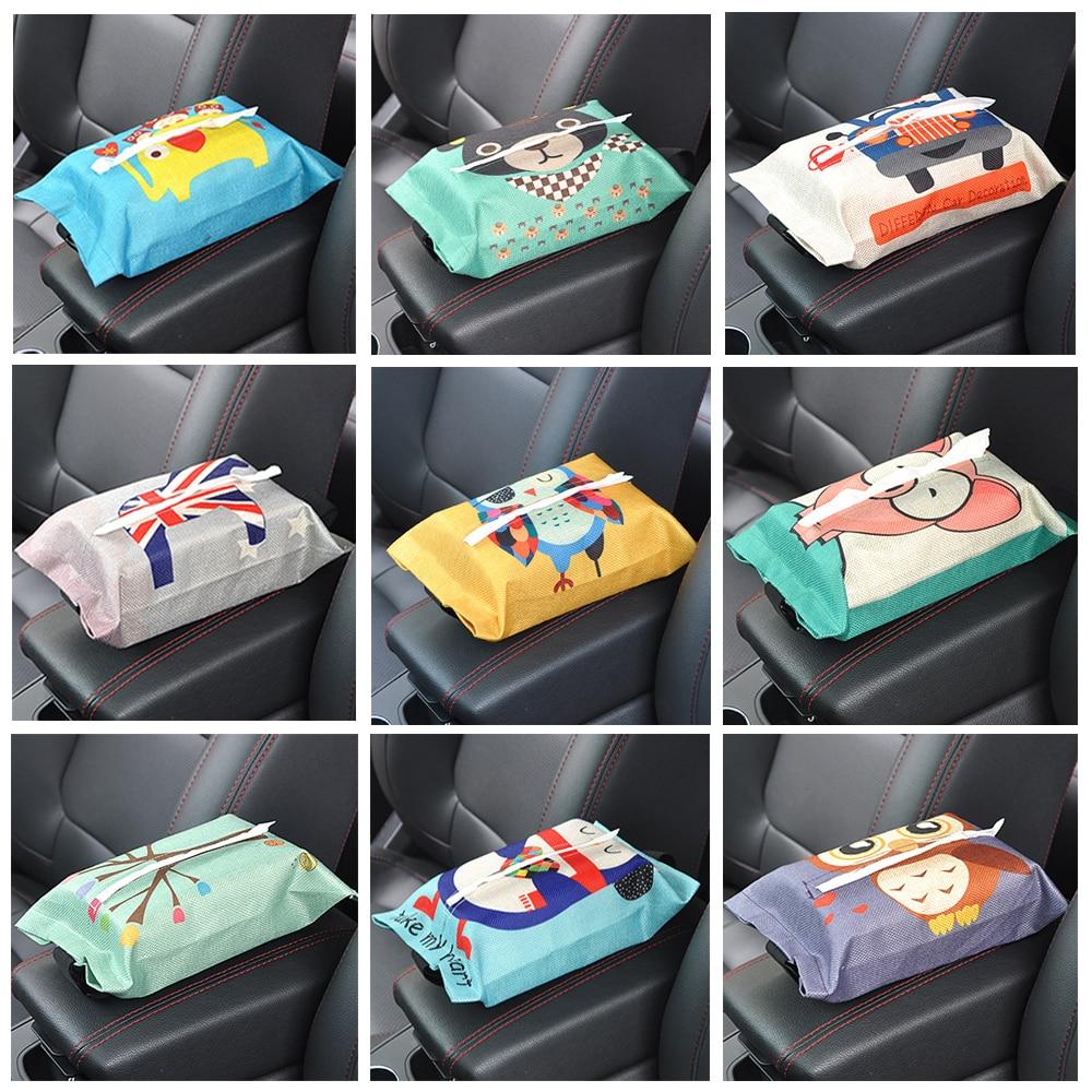 Cartoon Cloth Car Seat Back Hanging Storage Paper Towel Bag Container Towel Paper Towel Bag Storage Bag