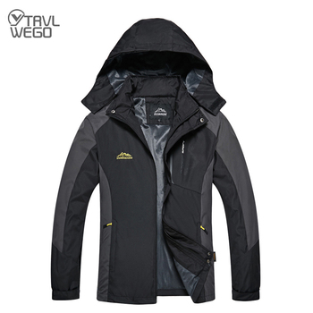 TRVLWEGO Camping Hiking Jacket Men Women Autumn Outdoor Sports Coats Climbing Trekking Windbreaker Travel Waterproof Jackets outdoor two piece suit jackets men winter coats warm waterproof clothing windbreaker outdoor jacket camping coat fishing tops