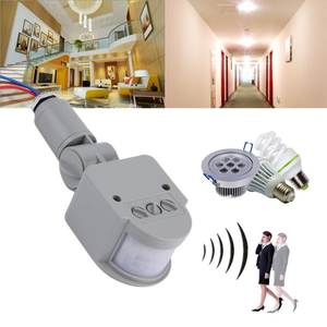 Motion-Sensor Light-Switch Outdoor-Timer 180-Degree-Rotating Infrared Automatic 220V