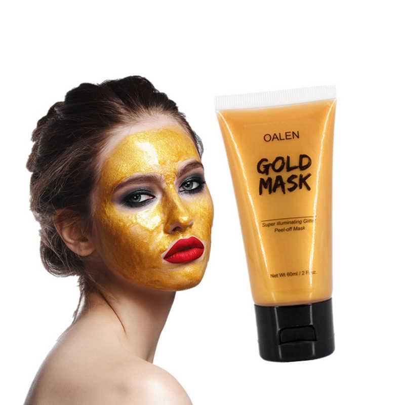 Beyazlatma maskesi krem yüz maskesi Glitter yüz altın pırıltılı Peel-off siyah nokta kaldırma fırça ile