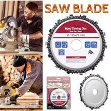 Nova chegada 5 Polegada de madeira desejo disco moedor corrente discos serras de corrente discos para 125mm ângulo moedor 14 dente disco de corte abrasivo