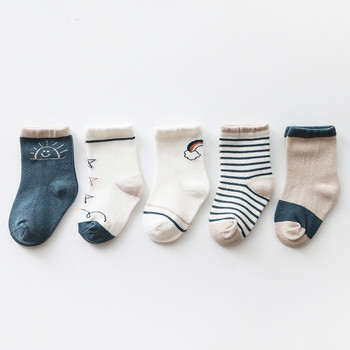 New 5Pairs/lot Infant Baby Socks Winter Autumn for Girls Cotton Newborn Boy Toddler Boys Accessories - discount item  40% OFF Baby Clothing