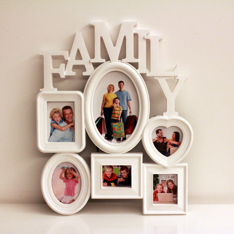 Lovelyu Family Family Photo Frame Combination Siamese Wall Photo Wall Album Commemorative Baby Commemorative Photo Frame