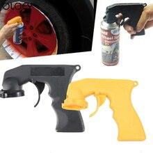 Spray Adapter do pielęgnacji lakieru uchwyt pistoletu aerozolowego z antypoślizgowe blokada spustu kołnierz konserwacja samochodu