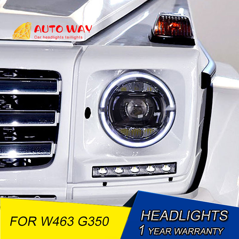 Car Styling LED HID LED Headlights Case For Mercedes-Benz W463 G350 G500 G55 G63 Headlights Bi-Xenon Headlight Low Beam