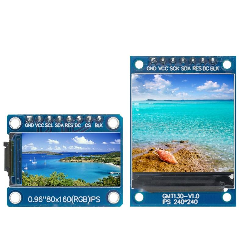 Tft display 0.96 / 1.3 1.44 polegada ips 7p spi hd 65k módulo lcd a cores completas st7735 drive ic 80*160 (não oled) para arduino