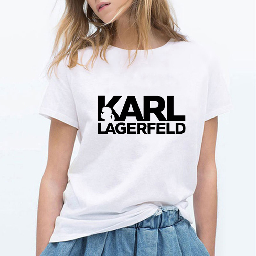 New Harajuku Aesthetics T-shirt Women Sexy Karl Lagerfeld Print Short Sleeve Tops & Tees Fashion Casual T Shirt