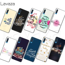 Lavaza WORDEN AWESOME CLEAR Soft Silicone Case voor Samsung A2 Core A20e A70s J4 Core J7 Duo J4 J6 J8 plus Prime 2018(China)