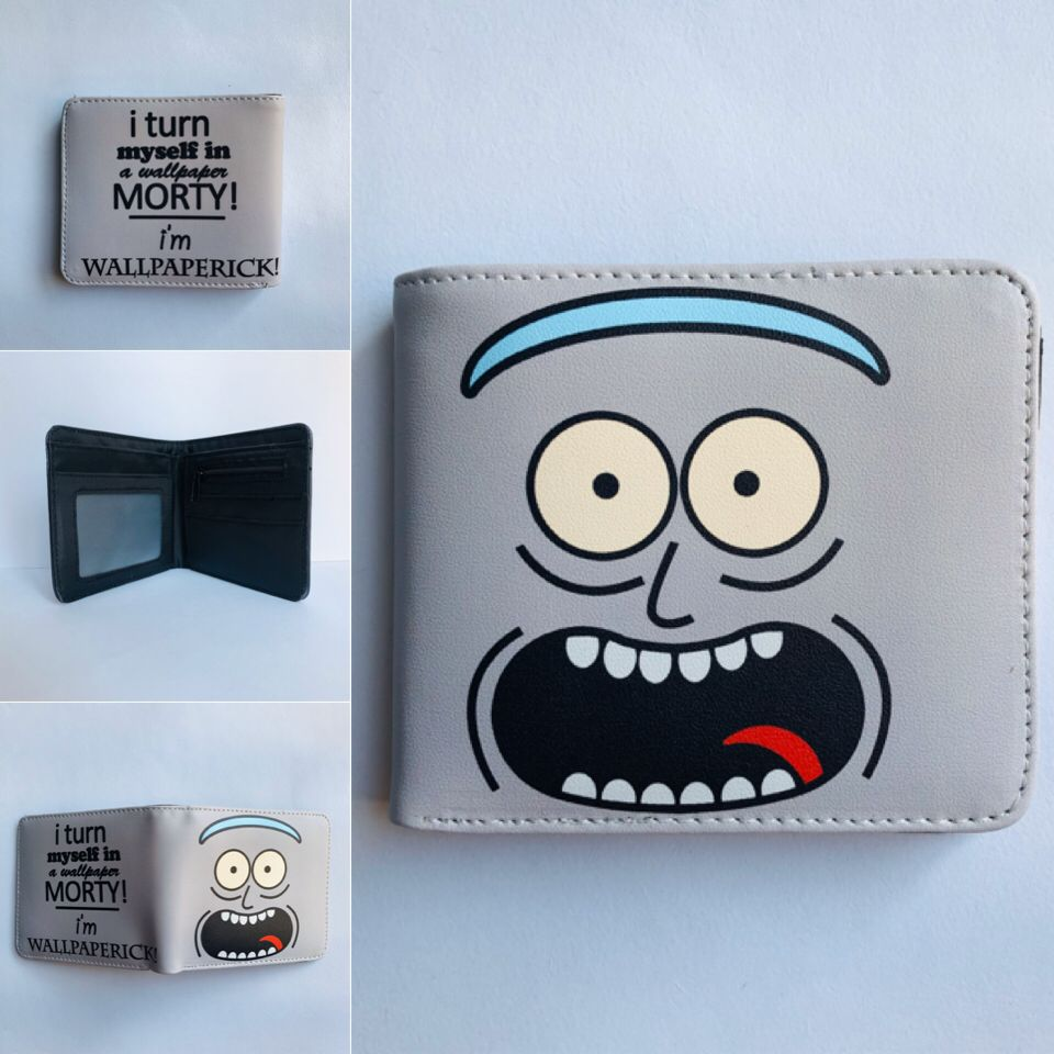 Hot Anime Purse Movie Cartoon Rick And Morty Printed Wallets Dollar Price Money Holder Creative Gifts Kids Leather Short Wallet