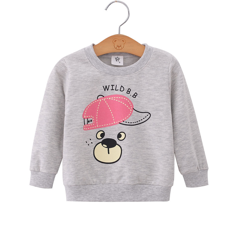 Spring Autumn Children Coats Baby Boys Girls Sweatshirts Cartoon Long Sleeves Sweater Kids T-shirt Sportswear Pullover Clothes