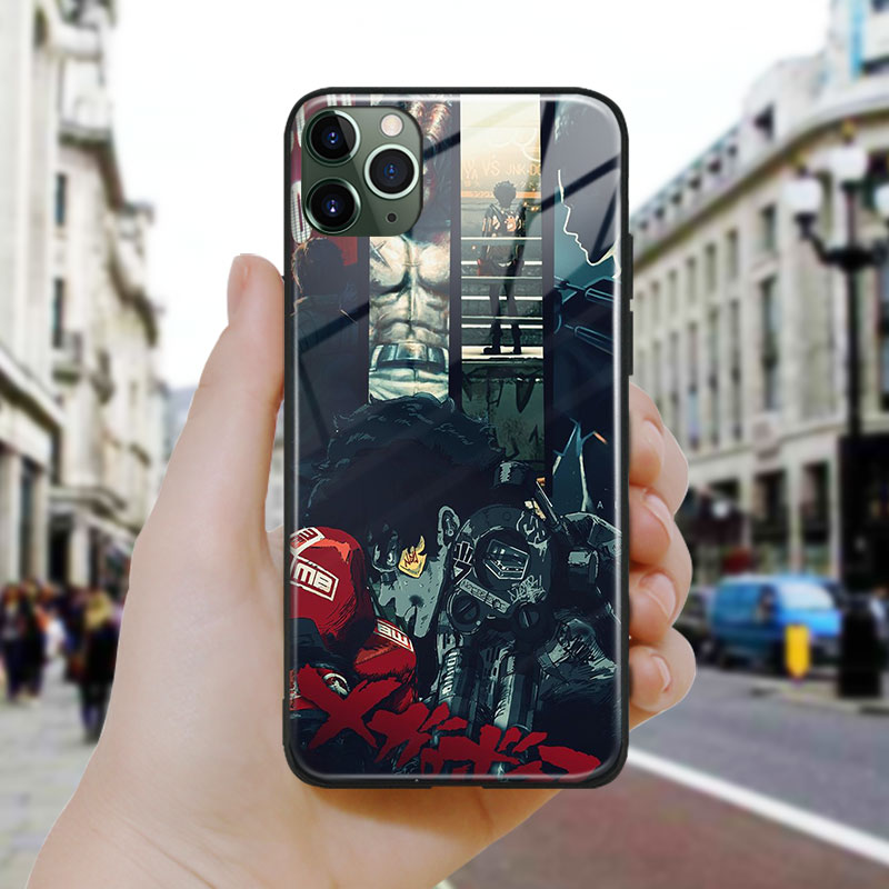 megalo box anime poster design soft Silicone Tempered Glass Phone <font><b>Case</b></font> Cover For <font><b>iPhone</b></font> SE 6s 7 8 Plus <font><b>X</b></font> XR XS 11 Pro Max image
