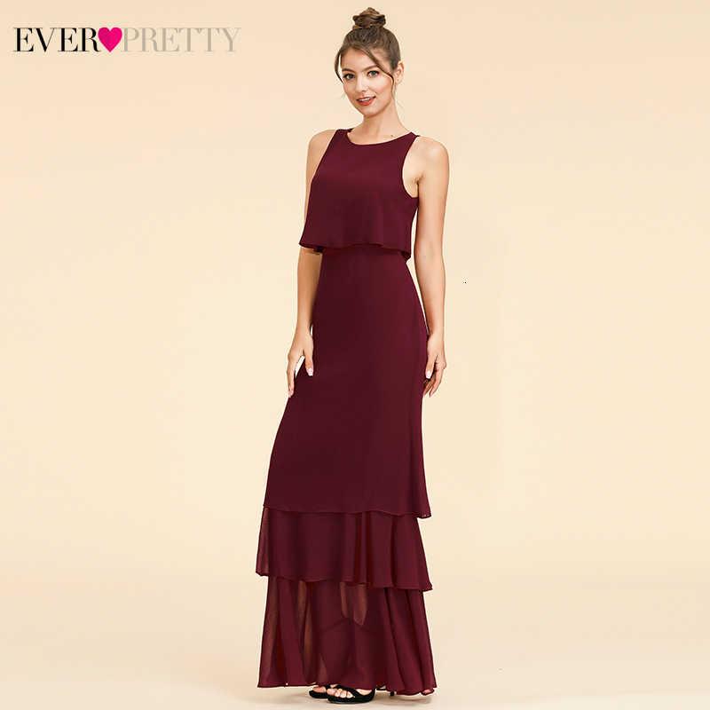 Элегантное платье подружки невесты из двух частей Ever Pretty; простое шифоновое платье с круглым вырезом и оборками для свадебной вечеринки; Sukienki; EP07173