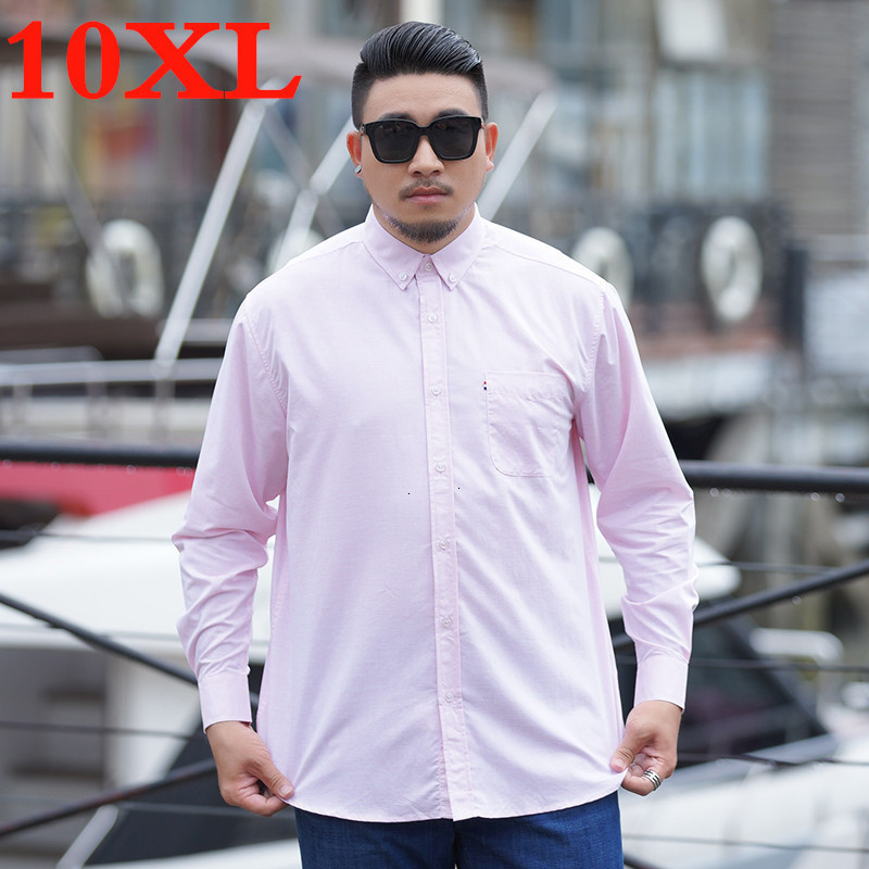 Plus Size 10XL 9XL 8XL 7XL 6XL Casual Men Shirts  Loose Fit Male Social Shirts Brand Long Sleeve Business Shirt Men Clothes