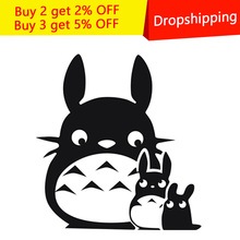 New Cartoon DIY Totoro Bathroom Wall Stickers Toilet Home Decoration Waterproof Wall Decals For Toilet Sticker wall Decor vinyl wall sticker for wc toilet bathroom door doorplate decoration home decor decals waterproof toilet sign wall stickers hy863