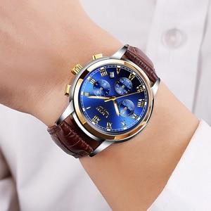 Image 4 - LIGE Gold Watch Men Fashion Business Quartz Clock Men's Watches Top Luxury Waterproof Leather Military Watch Relogio Masculino
