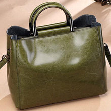 2019 Leather Handbags Big Women Bag High Quality Casual Female Bags Trunk Tote Shoulder Bag Ladies(China)