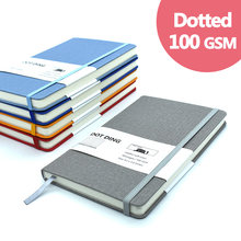 A5 Bullet Dotted-วารสารผ้าปกแข็ง 100GSM 160 หน้าโน้ตบุ๊กOffice & School Notepadเครื่องเขียน(China)