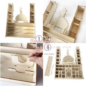 Image 5 - Décoration de fête musulmane islamique pour la maison, avec Tracker EID Mubarak, calendrier compte à rebours en bois Maulid al nabi