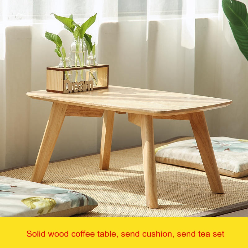 solid wood tea table window low table bedroom small coffee table living room rectangular japanese style asia style furniture