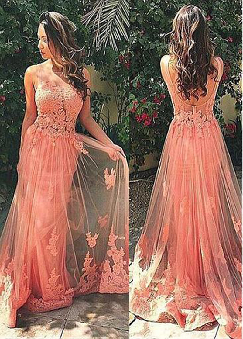 robe soiree dubai Gown Elegant 2020 New Appliques Lace Backless Prom Party Special Occasion Dress Long  Formal Gown