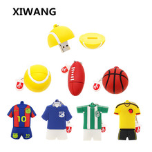 cartoon football / sweatshirt basketball usb flash drive 4GB 8GB 16GB 32GB 64GB portable USB 2.0 disk memory stick key fashion