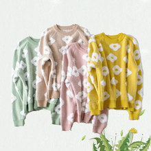 купить floral print casual sweater women autumn 2019 o neck long sleeve jumpers pullover streetwear winter sweaters mujer по цене 1404.88 рублей