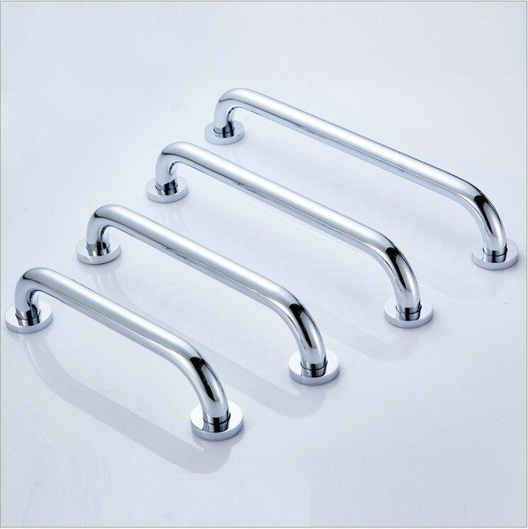 Поручень для ванны, латунный ХРОМ, яркое серебро, сейф для ванной, подлокотник, мульти-Спецификация, размер, фигура
