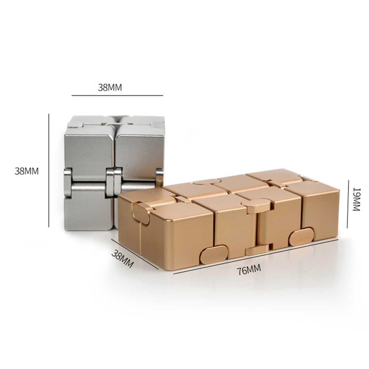 Обновленная версия мини Инфинит куб палец для избавления от стресса и тревожности Блоки Игрушки Magic Cube игрушечный кубик-головоломка расслабиться игрушка для взрослых и детей