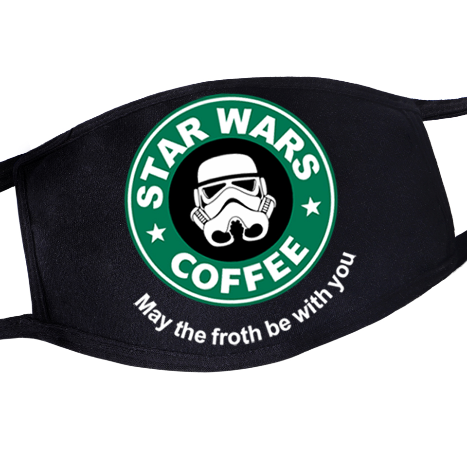 Men/Women Funny Reusable Dustproof Washable Mask Masker Windproof Warm Mask Star Wars Kpop Anime Anti-Dust Skin-friendly Mask