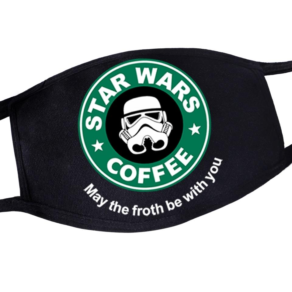 Men/Women Funny Reusable Dustproof Washable Mask Masker Windproof Warm Mask Star Wars Kpop Anime Anti-Dust Skin-friendly Mask