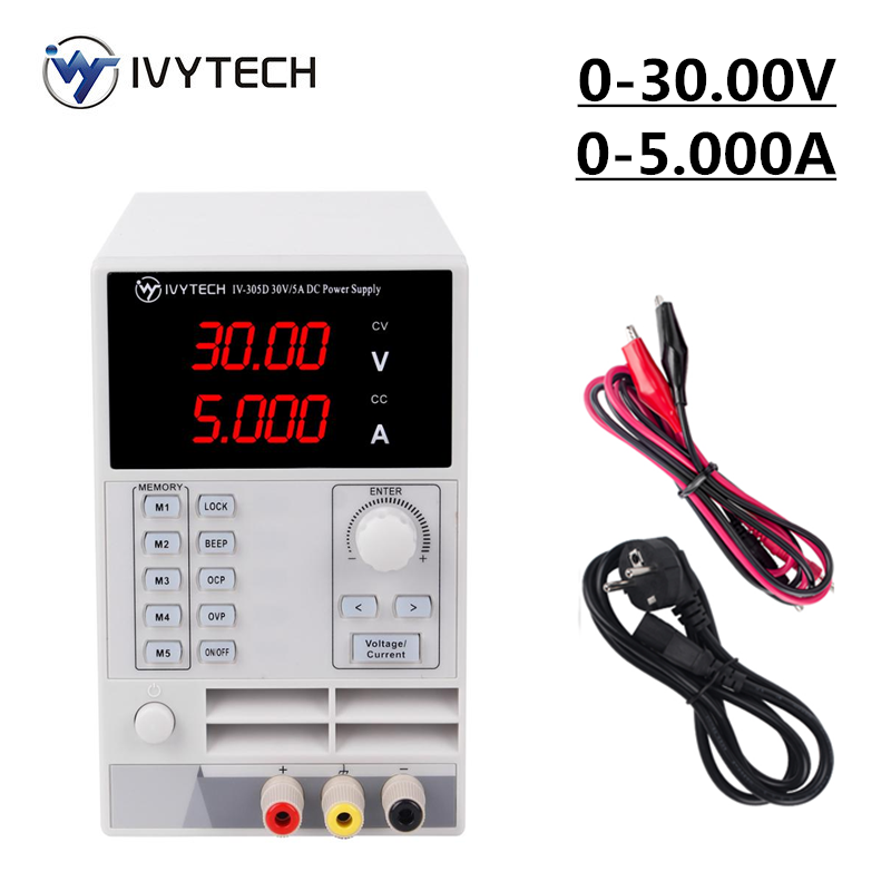 IVYTECH DC Lab Bench <font><b>Power</b></font> <font><b>Supply</b></font> <font><b>30V</b></font> <font><b>5A</b></font> Adjustable Switching Variable Regulated <font><b>Power</b></font> Modul Laboratory <font><b>Power</b></font> Source IV-305D image