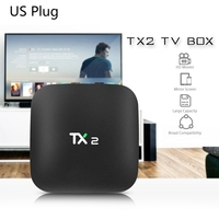 Promotion 2018 TX2 2GB+16GB Rockchip RK3229 Android 6.0 TV BOX WiFi Media Player US Plug