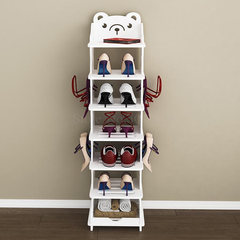 Shoe Rack Simple Multi Layer Economical Space Saving Household Small Narrow Door Shoe Rack Creative Baby Children S Shoe Cabinet Aliexpress