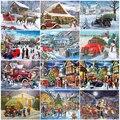 EverShine 5D алмазная вышивка зимний пейзаж полная квадратная Алмазная картина Рождественская картина Стразы для автомобиля праздничный подаро...