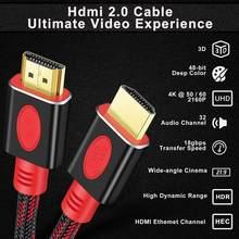 Shuliancable hdmi-cabo compatível 2.0 4k 60hz 3d cabo de vídeo hdr divisor switcher para hd tv computador portátil ps3 ps4 xbox