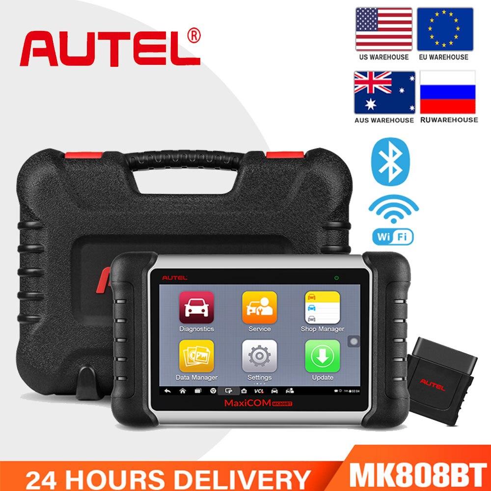 Autel MaxiCOM MK808BT Diagnostic Scan Tool Full System Diagnosis 21 Services IMMO/EPB/BMS/SAS/DPF/ABS/ect TPMS programming tool|Engine Analyzer| - AliExpress