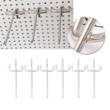 WINOMO 40/50Pcs Practical Shelf Hooks Supermarket Shelves Three Foot Hook Triangular Hole Board Hooks For Bathroom Shop