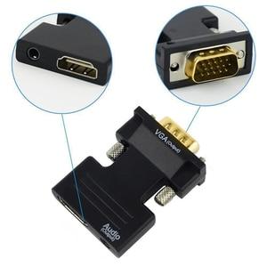 Image 3 - HDMI To VGA Male 3.5 Mm Âm Thanh AUX Cáp Video 1080P FHD Đầu Ra Cho Máy Tính laptop Tivi Màn Hình Máy Chiếu